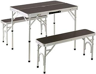アルミ テーブル チェア セット ALPT-90 | 2WAY ピクニック アウトドア ベンチ レジャー キャンプ ベンチセット ロースタイル 高さ 調整 可
