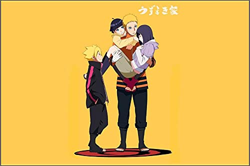 Alfombra Sala De Estar Sofá Mesa De Café Estera Dormitorio Habitación Estera De Cabecera Creativa De Dibujos Animados Naruto Anime Habitación De Niños-A_160*280cm-A_120X160cm