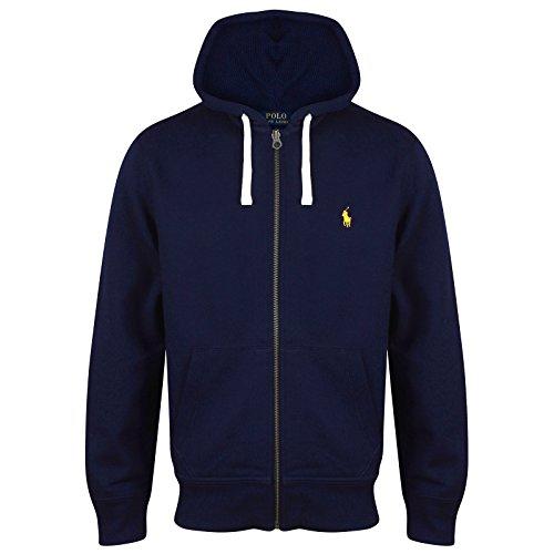Ralph Lauren Polo Herren-Kapuzenpullover, Fleece-Hoodie, diverse Farben, Größen S - XXL Gr. X-Large, Navy (Yellow Logo)