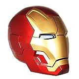 QWEASZER Vendicatori: Casco Maschera Uomo Iron Endgame Casco elettronico Marvel Iron Man Caschetto Cos Halloween Casco 1: 1 Armatura indossabile,Iron Man MK42-0~60cm
