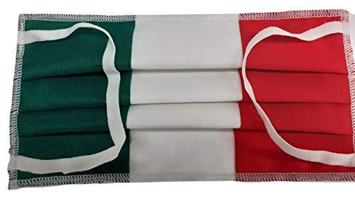 Italiaans masker met filtertas, 100% katoen, gemaakt in Italië