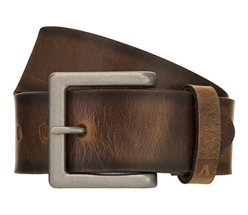 ALBERTO Gürtel Vintage Dessin aus robustem Leder braun Größe 85 cm