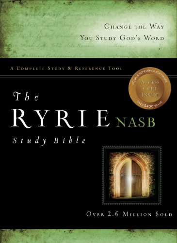 Compare Textbook Prices for The Ryrie NAS Study Bible Bonded Leather Burgundy Red Letter New American Standard 1995 Edition New Edition ISBN 9780802484659 by Ryrie, Charles C.