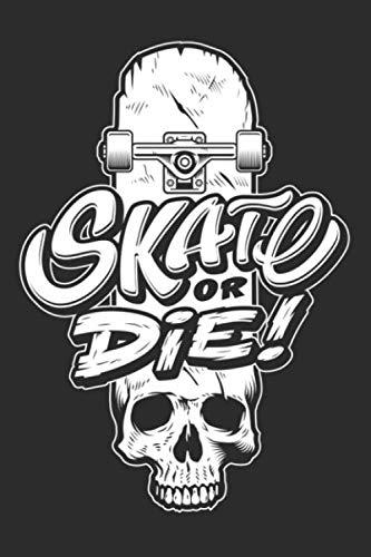 Skate or Die: Carnet de mots de passe format A5 | Index alphabétique , Sommaire A-Z, Pages numérotées | Discret, petit et pratique | Skateboard | 312 entrées