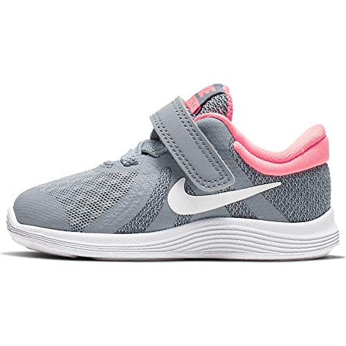 Nike Revolution 4 (TDV), Pantofole a Collo Basso Unisex-Bimbi 0-24, Multicolore (Obsidian Mist/White/Lava Glow 000), 22 EU