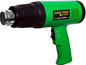 JUNKYARD Electronics Plastic 1800 Watts Hot Air Gun for Shrink Wrapping Packing, Stripping Paint, Thawing Frozen Water Pipes (Colour May Vary)
