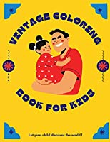Vintage coloring and activity book for kids