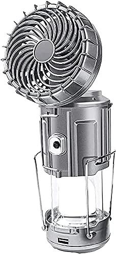 JYDNBGLS Linterna de camping con ventilador, recargable portátil, linterna de camping con ventilador de techo, lámpara de camping plegable, para camping, tienda, hogar, pesca deportes y aire libre