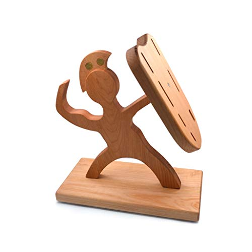 Boloi Soporte para Cuchillos Cocina Humanoid Creativa Bloque de Cuchillos Cuchillo Titular ecológico de bambú Cuchillo de Cocina en Rack Barra de Almacenamiento Cuchillos Soporte Bloque de Cuchillos