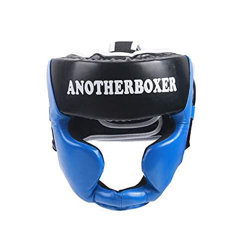 xiegons0 Protector de Cabeza de Cara Completa Protector de Cabeza de Espuma Boxeo Protector de Cabeza Equipo para ni/ños Entrenamiento Sparring Casco Kick Boxing Protection Taekwondo