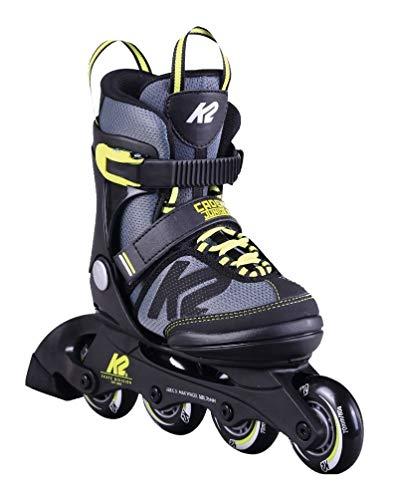 K2 Cadence JR Kinder Inline Skates größenverstellbare Inliner Rollerskates für Jungen (größenverstellbar von 32-37)
