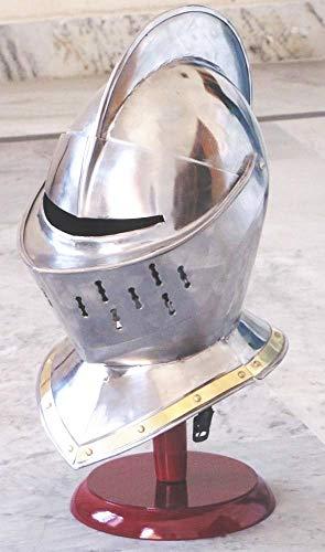 Europea cerrado Casco – Medieval Knight Armour Helm LARP R