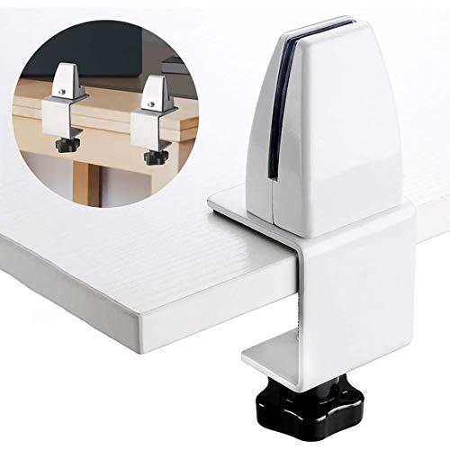 GXLO 2pcs / Set Biombo Clip móvil Estantería Clip de la Pantalla de privacidad Abrazadera Divisor Pantalla estornudo estornudo Guardia Soportar la Pantalla de acrílico Oficina de Soporte