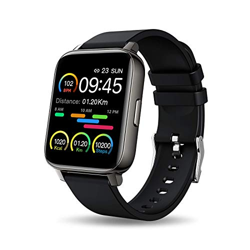 Smartwatch, 1,69'' Touch Schermo Orologio Fitness Uomo Donna Activity Tracker, Impermeabile IP67 Smart Watch Cardiofrequenzimetro da Polso Contapassi, Notifiche Messaggi Controller Fotocamera Musicale