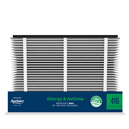 Aprilaire - 416 A2 416 Replacement Air Filter for Whole Home Air Purifiers, Allergy, Asthma, & Virus Filter, MERV 16, (Pack of 2)
