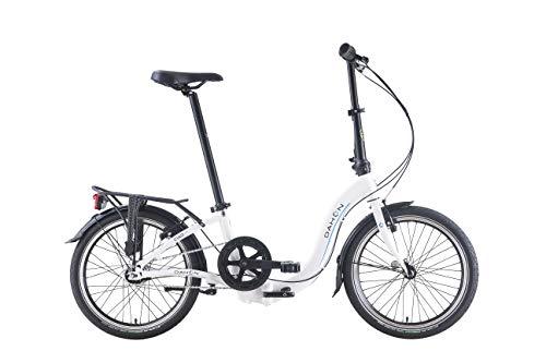 Dahon Bicicleta plegable Ciao i7 de 7 velocidades, color blanco, 20 pulgadas
