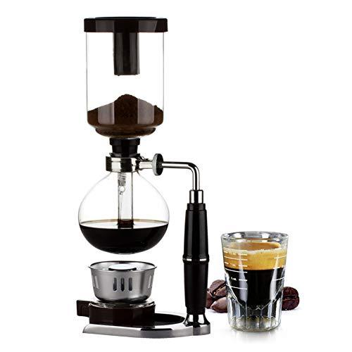 Syphon Coffee Brewer japanische Art Syphon Kaffeemaschine Tee Syphon Topf Vakuum Kaffeemaschine Glasart Kaffeemaschine Filter 3cup