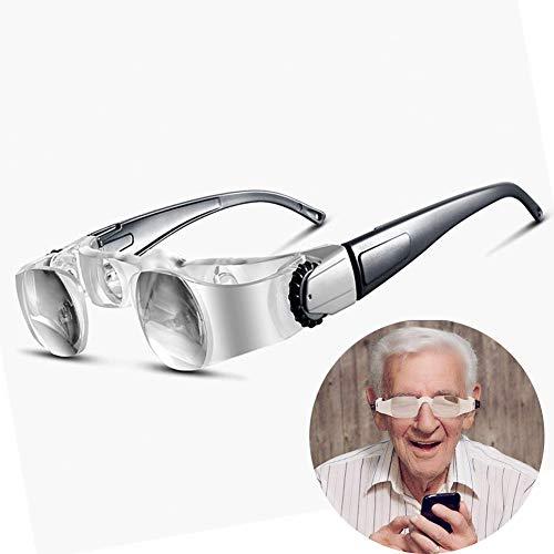 2.1X Binokulare Lupen Presbyopische Brille, Alte Menschen Lesen Fischen Fernsehen Lupe 0-300 Grad 3D