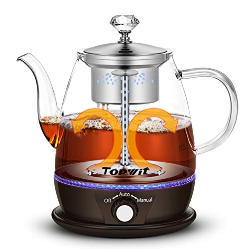 Topwit Electric Kettle Electric Tea Kettle with New Teabrewing Method Keep Warm and Dual Boiling Modes Electric Tea Maker 1L Pour Over Teapot amp Hot Water Kettle with Stainless Steel Infuser