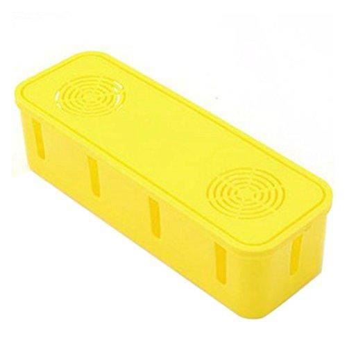Yardwe Caja de Cables Caja Organizadora para Cargadores Alargadores Regletas (Amarillo)