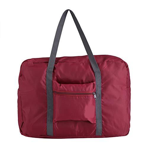 Bolsas de Viaje Plegables Maletas Bolsas de Mano Bolsas de Almacenamiento Organizador para Hombre y Mujer (Rojo Vino)