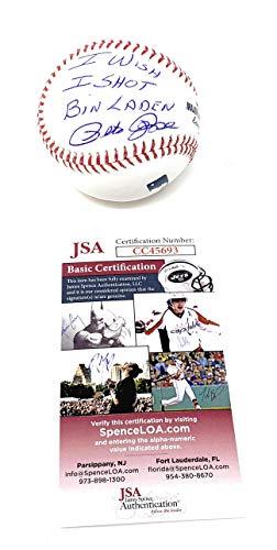 Pete Rose Cincinnati Reds Signed Autograph Official MLB Baseball I WISH I SHOT BIN LADEN INSCRIBED JSA Witnessed Certified