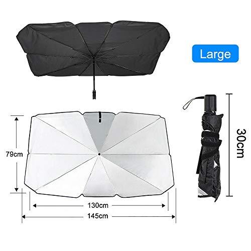 BGTR Coche Sun Shade Protector Parasol Auto Front Window Sombrero Cubiertas Coche Protector de Sol Interior Protección de Parabrisas Accesorios (Color : Large)