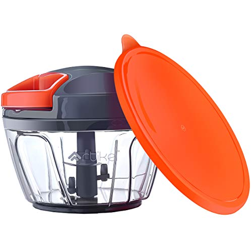 Artikel™ Chopper with Storage Lid | Chops Vegetables, Nuts & Fruits | Meat Mincer | (Small - 400 ml)
