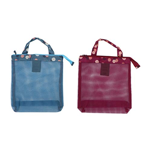 Cabilock - Bolsa de playa de tela de 2 piezas, bolsas de viaje con asas para mujer, toalla, gafas de sol, bolsa de sol, suministros de viaje, playa, diseño floral