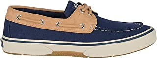 SPERRY Men's, Halyard Boat Shoe Chambray Chocolate/TAN 12 M
