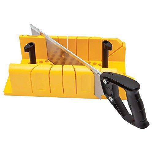 Stanley Gehrungslade Kunststoff (inklusive Rückensäge, Haltennocken-System, 90°/45°/22.5° Winkel einstellbar) 1-20-600