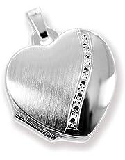 Medallón De Corazón Plata 925 para Abrir para Depósito de Imagen/ 2 Fotos