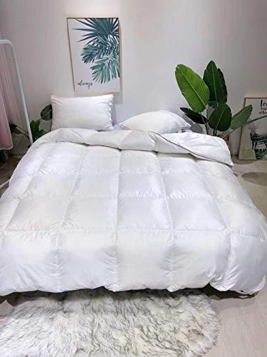 Hahaemall Double Duvet 13.5 Tog Winter Warm Duvet Insert Classic Quilt Hypoallergenic-Anti allergen-Washable at Home-Classic-Duvet Quilt-white_200x230-3000g