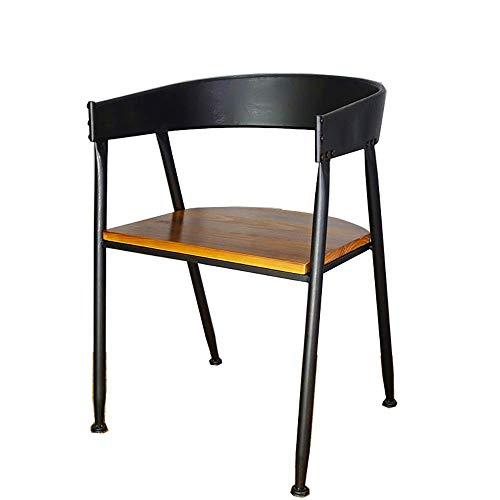 N&O Renovierungshaus Esszimmerstühle Eleganter Esszimmerstuhl Rückenstütze Kissen Sitz Metall Akzent Sessel Moderner Freizeitstuhl (Color Size : 45x43x75cm)