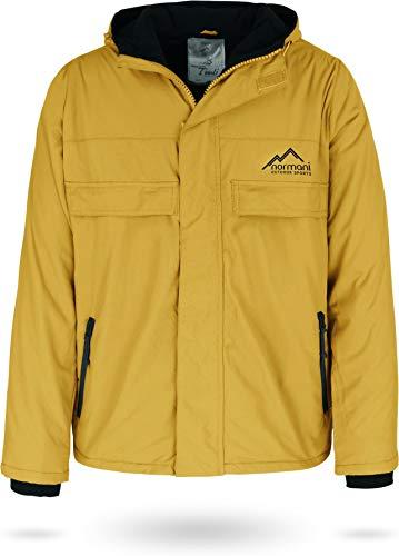 normani Outdoor Sports Winddichte Funktions-Jacke für Damen und Herren von XS-4XL Farbe Gelb/Schwarz Größe L/52