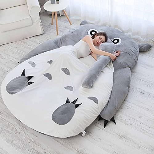 FBRNYQPM Colchón Tatami Totoro Bolsa de Dormir Perezoso Sofa Cama, Dibujos Animados Doble Idividual Colchón Calentar Suave Casa Plegable Cómodo y Transpirable,002,120 * 80