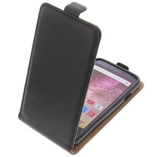 foto-kontor Tasche für Archos 40 Power Smartphone Flipstyle Schutz Hülle schwarz