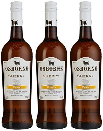 Osborne Sherry Fino, 15 {6a5f8b0a62a03c305c63623b4ab64462d288293c67134880ee95e58e53c20546} vol (3 x 0.75 l)