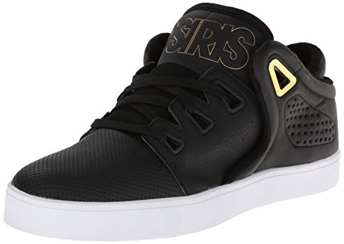 Osiris Men's D3V Skate Shoe,Black/Gold/White,8.5 M US