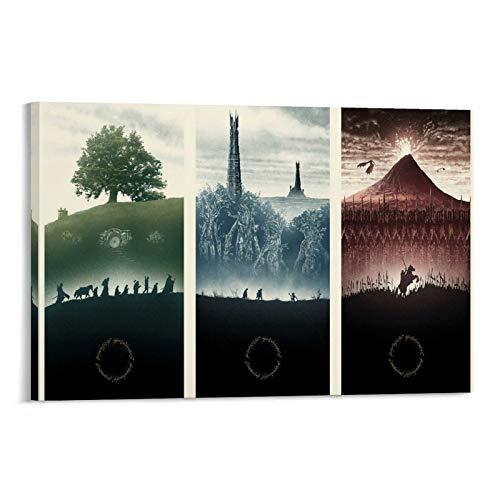 DRAGON VINES Póster de la trilogía del Señor de los Anillos para la pared (30 x 45 cm)