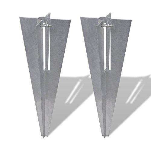 Festnight Pfostenträger Einschlaghülse Bodenhülse Hülse für Zaunpfosten 34mm