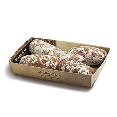 Salamini Pic Nic poco stagionati, 4 pezzi in vaschetta di cartone, Salumi Pasini, 200 gr