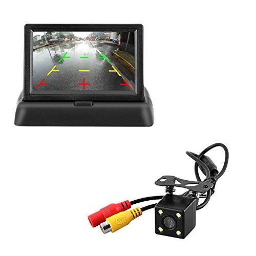 Majome HD de Voiture Camra de recul Filaire 170Degrs 10,9cm LCD cran Moniteur Vue Arrire Vision de Nuit