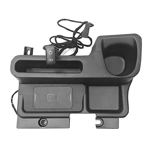 RONGSHU AR Central Console Caja de Almacenamiento Cargador inalámbrico Ajuste para Toyota Land Cruiser LC70 LC71 LC76 LC77 LC79 FJ70 FJ76 FJ77 FJ78 (Color : Black)