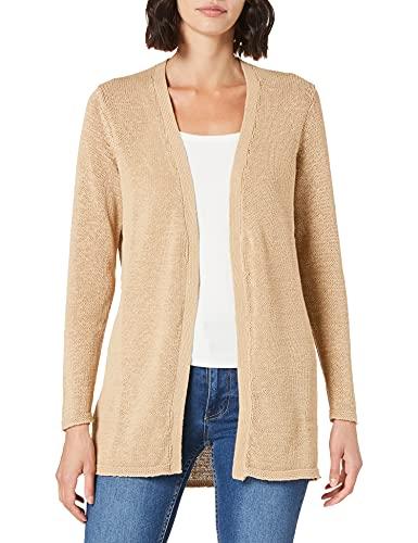 Vila VISINOA L/S Open Knit Cardigan-Noos Suter crdigan, Nomad, XL para Mujer