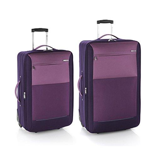 Gabol juego de 2 maletas Reims mediana y grande en Polyester color morado