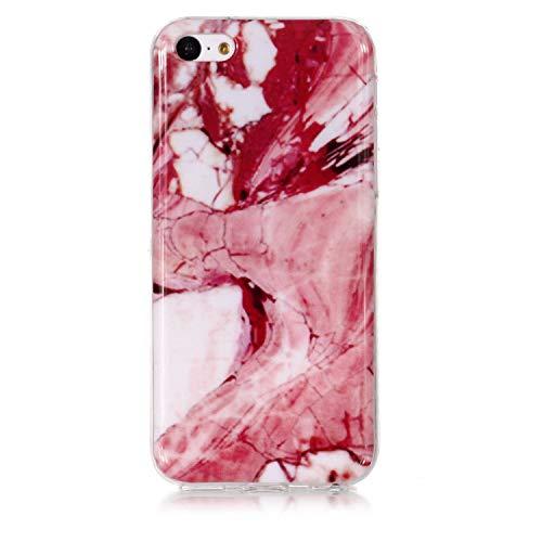 Fall für Apple iPhone 5C, XINYIYI Ultra Dünnes Kreatives Buntes Silikon-Gel TPU Bling-Marmor-Abdeckungs-Glitter Stoß Schützende Weiche Fall-Schützende Hülle für Apple iPhone 5C