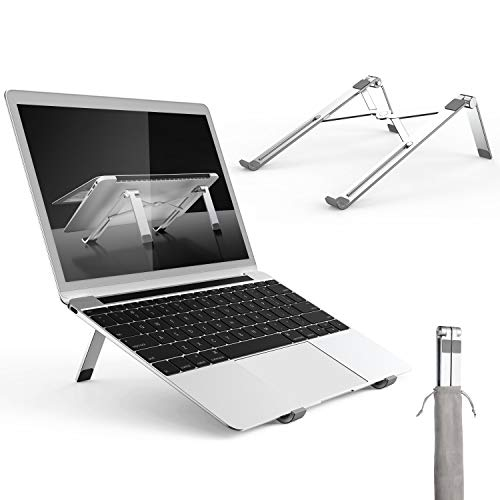 Adjustable Laptop Stand, Portable Aluminum Notebook Holder Riser Foldable Desktop MacBook Stand...