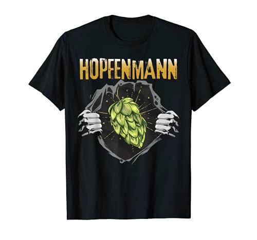Bier Brauen Hopfentee Säufer Hopfenkaltschale Kneipentour T-Shirt
