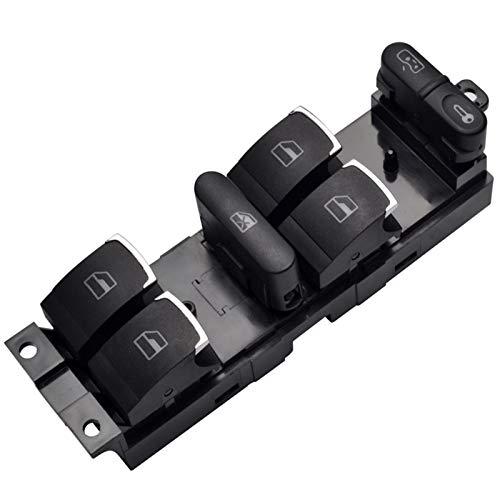 QBV para el botón del Interruptor de Control del elevalunas eléctrico Principal, para VW 99-04 GTI Golf 4 Jetta MK4 Bora Beetle Passat B5 B5.5 3BD 959857 Acabado Superficial Cromado